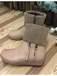 Foot cradle new winter snow boots women mixed colors round