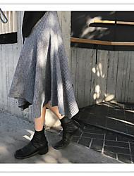 lu Jieyun saia guarda-chuva saia irregular inverno cariedo costume de lã de tricô selvagem conforto