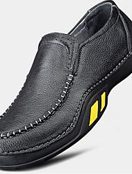 Herren-Sneaker-Lässig-LederKomfort-Schwarz