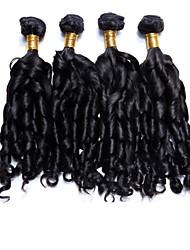 4Pcs/Lot Brazilian Hair Bundles Unprocessed Spiral Curl Hair Weaves Brazilian Virgin Hair weaves