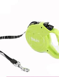 Cães Mãos Leash gratuito Retratável Sólido Verde Plástico