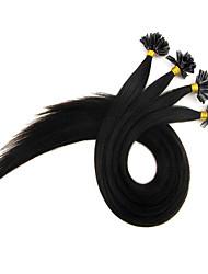 queratina u ponta extensões de cabelo 16-24inch prebonded cabelo Cabelo U-Tip extensões de queratina no cabelo cápsula ponta do prego