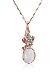 Women's Pendant Necklaces AAA Cubic Zirconia Imitation Ruby Zircon Gem Silver Plated Gold Plated Rose Gold Plated Alloy Geometric Drop