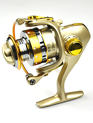 FDDL® Mini Metal Fishing Spinning Reel 12+1 Ball Bearing Gear Rate 5.2:1 Interchangeable Handle