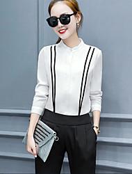 540 # spring new fashion chiffon blouse leisure suit Slim thin nine points pencil pants two-piece