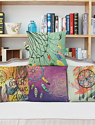 4pcs Painted Feathers Pillowcase Home Decor Pillow Cover
