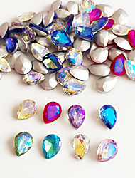 10PCS 6*8MM Mix Colour  Drop Shape Rhinestone Nail Art Decoration