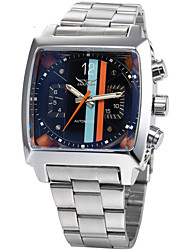 JARGAR Square TV Full Automatic Mechanical Steel Watch