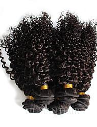 1 Piece Natural Color Hair Weaves Brazilian Texture Curly hair weaves 100% Human Hair Top Quality Unprocessed Brazilian Virgin Hair