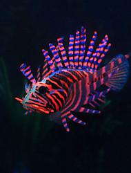 Decorazioni Acquario Pesce finto Resina Colori casuali