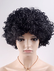 Europe and the United States new short hair curl black wave plate high temperature wire wig