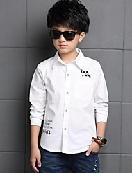 Boy Casual/Daily Print Shirt,Cotton Spring Long Sleeve