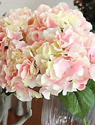 5 Heads/Bouquet Silk Big Size Hydrangeas Wedding Celebration Artificial Flowers