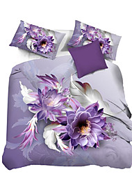 Mingjie 3D Reactive Beautiful  Flowers  Bedding Sets 4 Pcs for Queen Size Contain 1 Duvet Cover 1 Bedsheet 2 Pillowcases from China
