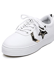 Women's Sneakers Spring Summer Comfort Light Soles Leatherette Outdoor Office & Career Athletic Dress Casual Work & Safety Flat Heel