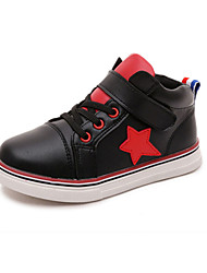 Girl's Sneakers Spring Fall Winter Comfort PU Casual Low Heel Magic Tape Black White Other