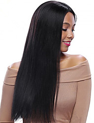 100% Human Virgin Hair Lace Wig Lace Front Remy Straight Wig-glueless with Baby Hair