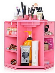 Makeup Storage Plastic 360 Degree Rotating 28*28*32 Makeup Organizer Large Capacity Acrylic Cosmetics Storage/Revolving Case