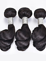 3pcs Lot 100% Brazilian Virgin Hair Loose Wave Human Hair Extensions Natural Black Hair Weaves