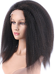 150% High Density Hair Virgin Malaysian kinky Straight 13*6 Lace Front Wig With Baby Hair Glueless Front Lace Wigs