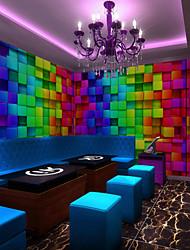 Art Deco Wallpaper For Home Wall Covering Canvas Adhesive required Mural KTV Color Magic Block XXXL(448*280cm)XXL(416*254cm)XL(312*219cm)