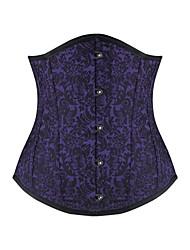 Ženy Korzet pod prsa / Větší velikosti Noční prádlo Jednobarevné-Bavlna / Nylon / Polyester / Spandex / Modal Fialová Dámské