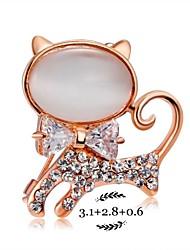 Another Kitten Crystal Brooch