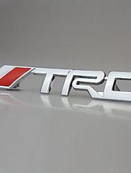 trd course chromé voiture emblème badge tronc 3d métallique autocollant autocollant