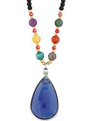 Women's Pendant Necklaces Resin Drop Teardrop Euramerican Classic Fashion Blue Jewelry Casual 1pc
