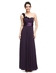 LAN TING BRIDE Ankle-length One Shoulder Bridesmaid Dress - Elegant Sleeveless Chiffon
