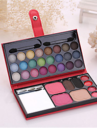 1 Pcs Colorful Make-Up Box Of  24 eye shadow 2 blush  2 eyebrow powder  1 powder  4 lipstick cosmetic color random