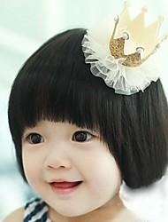 Girls Fashion Trendy Cute Lace Stereo Crown Princess Hair Clips