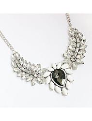 Women's Choker Necklaces Pendant Necklaces Chain Necklaces Rhinestone Rhinestone Simulated Diamond Alloy Round Drop CircularSilver Black