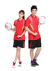 Conjuntos de Roupas/Ternos(Vermelho Preto) -Unissexo-Respirável Confortável-Badminton