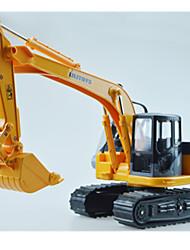 Véhicules de construction Pull Back Véhicules 1:24 Métal Plastique Jaune