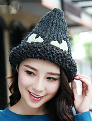2017 New Curling Sharp Knit Hat Single Hat Women Fashion Warm Wool Hat Warm Hat
