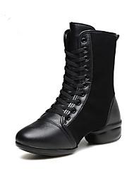 Chaussures de danse(Noir Rouge) -Non Personnalisables-Talon Bottier-Daim-Modernes