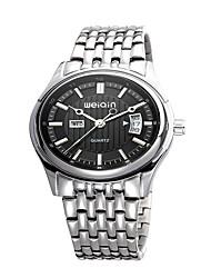 Unisex Fashion Watch Quartz Alloy Band Silver