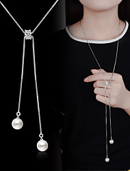 Ожерелье Искусственный жемчуг Ожерелья с подвесками Y-ожерелья БижутерияСвадьба Для вечеринок Особые случаи День рождения Обручение