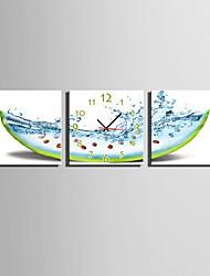 Модерн Повседневный Прочее Настенные часы,Квадратный Холст 25 * 25 * 3 В помещении Часы