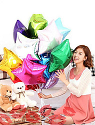 10Pcs Two Kinds Of Shaped 10 Inch Balloon Star Wedding Large Aluminum Foil Balloons Gift Birthday Baloon Party Decoration Ball  Random Color