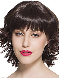 Hot Sale Wig Short Bob Curly Wavy Cute Synthetic Wig Brown Cosplay Costume Hairstyle