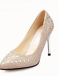 Для женщин Обувь на каблуках Удобная обувь сутулятся сапоги Ткань Весна Повседневные Для прогулок Удобная обувь сутулятся сапоги СтразыНа