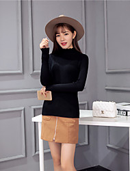 signer couverture col haut épais korean mince mince core-filé pull en laine bonne