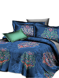 Mingjie 3D Reactive Gorgeous Flower  Bedding Sets 4 Pcs for Queen Size Contain 1 Duvet Cover 1 Bedsheet 2 Pillowcases from China