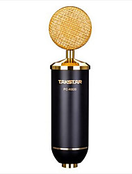 PC-K820 Проводной Микрофон для караоке USB Золотистый