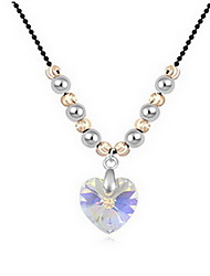 Necklace Crystal Pendant Necklaces Jewelry Daily Casual Single Strand Basic Design Alloy 1pc Gift White