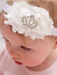 Girls Hair Accessories Chiffon Roll Heart The Sun Flowers With Diamond Crown Tong Hair Band