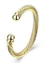 Bangles Cuff Bracelet Copper Gold Plated Friendship Fashion Vintage Punk Hip-Hop Handmade Simple Style Irregular Gold Jewelry 1pc