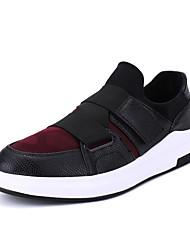 Men's Sneakers Spring Summer Fall Winter Comfort Microfibre PU Outdoor Office & Career Casual Athletic Split Joint Hook & LoopBlack Black